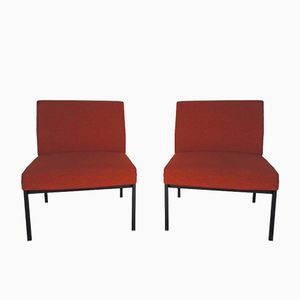 Chaises Vintage Orange, 1970s, Set de 2