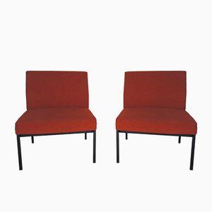 Vintage Orange Chairs, 1970s, Set of 2