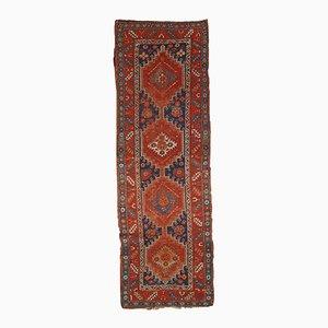 Alfombra de pasillo Kazak caucásica antigua tejida a mano, años 80