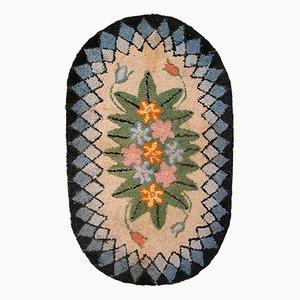 Tapis Antique Crocheté à la Main, Etats-Unis, 1900s