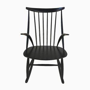 Vintage Danish Rocking Chair by Illum Wikkelso for N. Eilersen, 1958