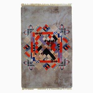 Alfombra Khaden tradicional tibetana vintage tejida a mano, años 80
