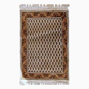 Handgearbeiteter Indischer Vintage Teppich im Seraband Stil, 1980er