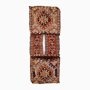 Alforja de Oriente Medio vintage hecha a mano, años 40