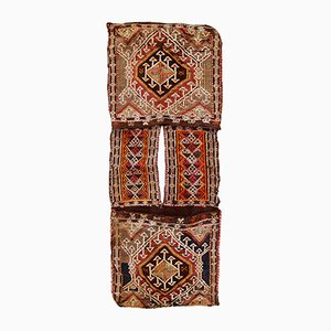 Vintage Middle Eastern Saddle Bag Rug, 1940s