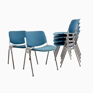Vintage DSC 106 Stackable Chairs by Giancarlo Piretti for Castelli, Set of 6