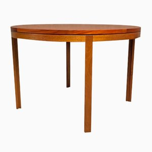 Mid-Century Danish Round Mahagoni Table by Christian Hvidt for Søborg Møbelfabrik, 1960s