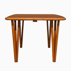 Mid-Century Cubic Solid Teak Coffee Table by Severin Hansen for Haslev