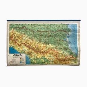 Carte Géographique d'Italie Vintage