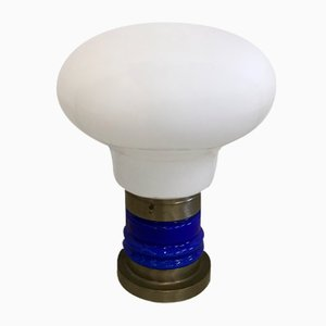 Vintage Opaline Glass Table Lamp