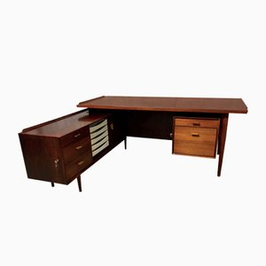 Mid-Century Danish Teak Executive Desk by Arne Vodder for Sibast Møbler
