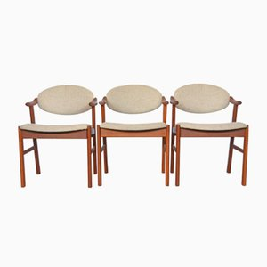 Danish Chairs by Kai Kristiansen for Schou Andersen, 1960s, Set of 3