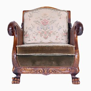 Antique Carved Armchair, 1900s