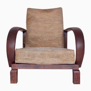 Sedia vintage reclinabile, anni '20