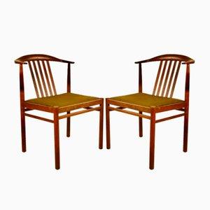 Dänische Vintage Palisander Stühle, 1960er, 2er Set