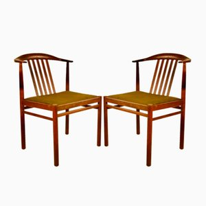 Vintage Danish Rosewood Chairs, 1960s, Set of 2
