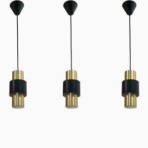 Lámparas colgantes de Jo Hammerborg para Fog & Mørup, años 60. Juego de 3