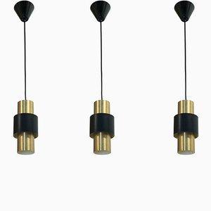 Pendant Lights by Jo Hammerborg for Fog & Mørup, 1960s, Set of 3