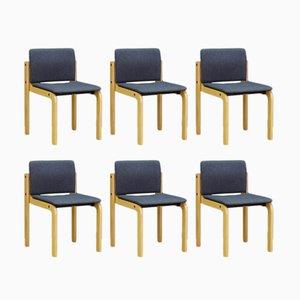 Dänische Mid-Century Stühle von Fritz Hansen, 6er Set
