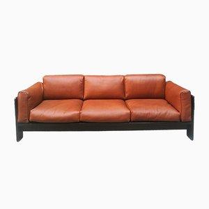 3-Sitzer Leder Sofa von Tobia & Afra Scarpa für Gavina, 1962