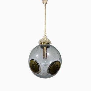 Lámpara colgante alemana de Doria Leuchten, años 60