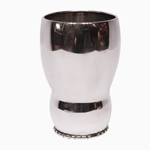 Vintage Silver Vase with Pearled Edge from Heimbürg