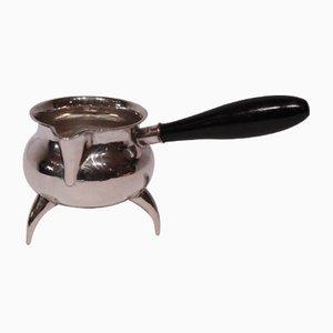 Salsiera vintage piccola in argento ed ebano di Christian Obbekjer