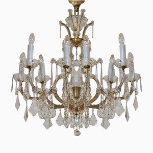 Lámpara de araña antigua de cristal