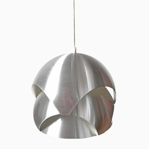 Lámpara colgante Konglependel de aluminio de Sven Ivar Dythe para Sønnico, años 60