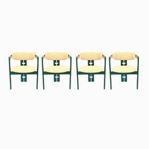 Italian Dining Room Chairs by Augusto Savini for Pozzi, 1960s, Set of 4