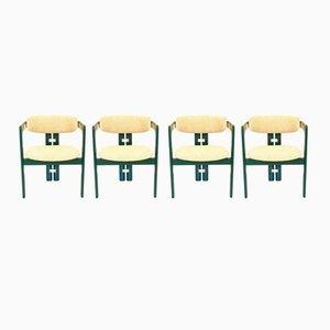 Sillas de comedor italianas de Augusto Savini para Pozzi, años 60. Juego de 4