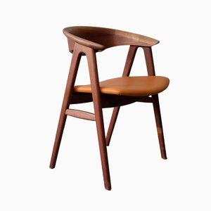 Teak No. 52 Compass Chair by Erik Kirkegaard for Høng Stolefabrik, 1960s