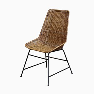 Vintage Rattan Chairs, 1960s, Set of 5
