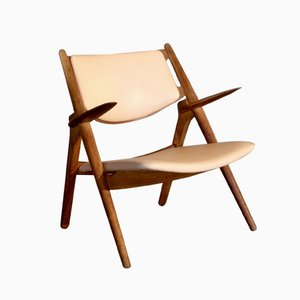 CH-28 Sawbuck Chair by Hans J. Wegner for Carl Hansen & Sons, 1950s