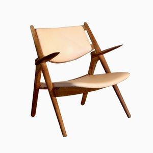 Sedia CH28 di Hans J. Wegner per Carl Hansen & Sons, anni '50