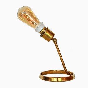 Lámpara de mesa Mid-Century articulada de latón, años 50