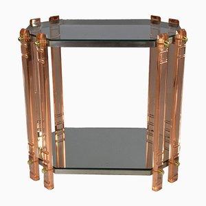 Mesa auxiliar vintage de plexiglás