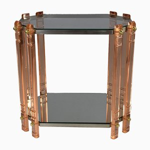 Vintage French Plexiglass Side Table or Bar Cat