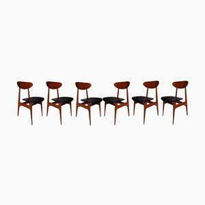 Mid-Century Rosewood & Skai Dining Chairs, Set of 6
