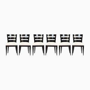 Chaises de Salon Vintage Art Déco, Set de 6