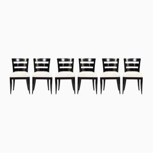 Vintage Art Deco Dining Chairs, Set of 6