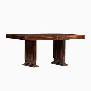 Vintage Art Deco Macassar Ebony Dining Table