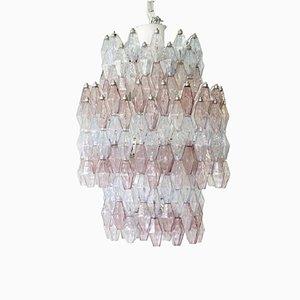 Lámpara de araña vintage poliedro de Carlo Scarpa para Venini