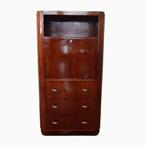 Art Deco Rosewood Secretaire with 3 Drawers, 1930s