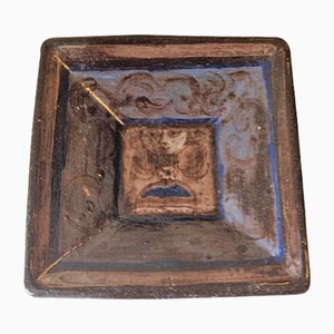 Ceramic Square Bowl by Rolf Hansen, 1950s