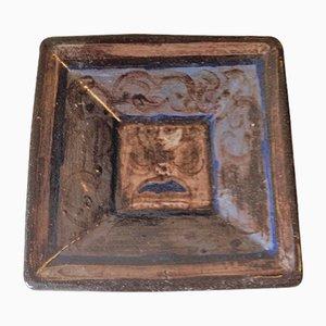 Scodella quadrata in ceramica di Rolf Hansen, anni '50