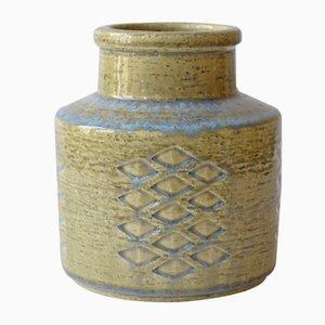 Vaso grande verde chiaro e blu di Per Linnemann-Schmidt per Palshus, Scandinavia, anni '60