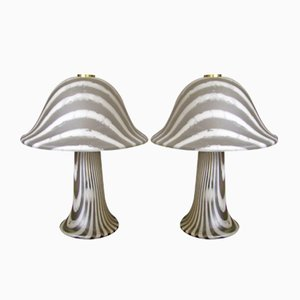 Mushroom Table Lamps from Peill & Putzler, 1960s, Set of 2