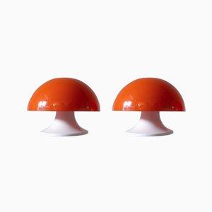 Lampes de Bureau Vintage par Luigi Massoni pour Guzzini, Italie, 1960s, Set de 2