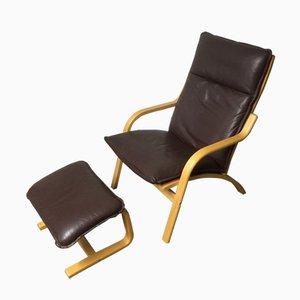Dänischer Vintage Sessel und Hocker von Stouvon, 1970er